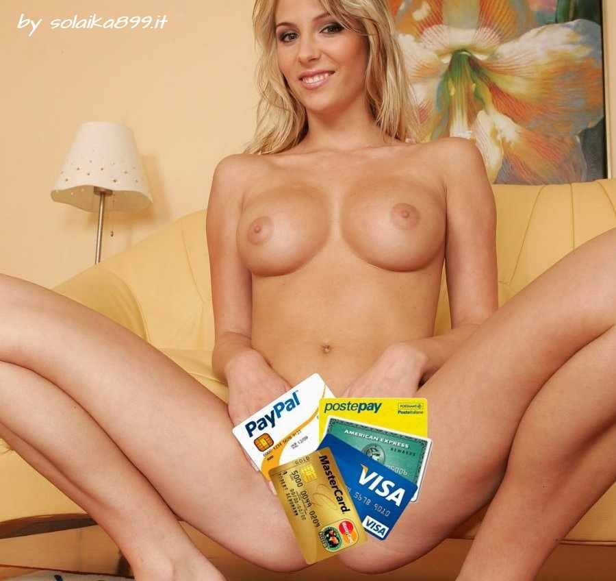sesso con carta di credito